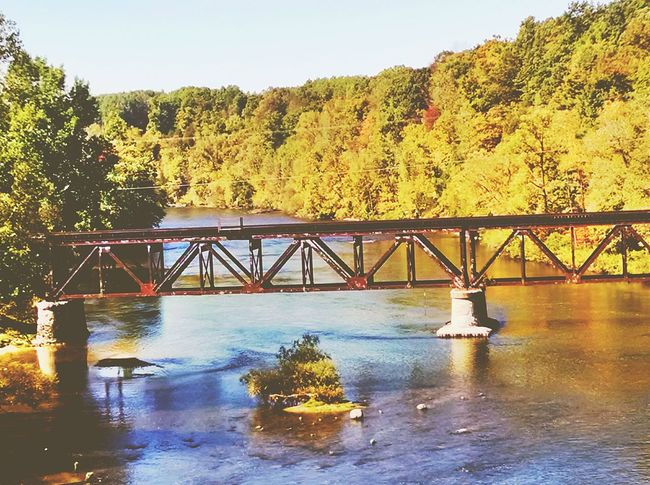 A railroad bridge, still in use On The Road Check This Out Nature My Running View The Great Outdoors - 2015 EyeEm Awards Fall Beauty EyeEm Nature Lover