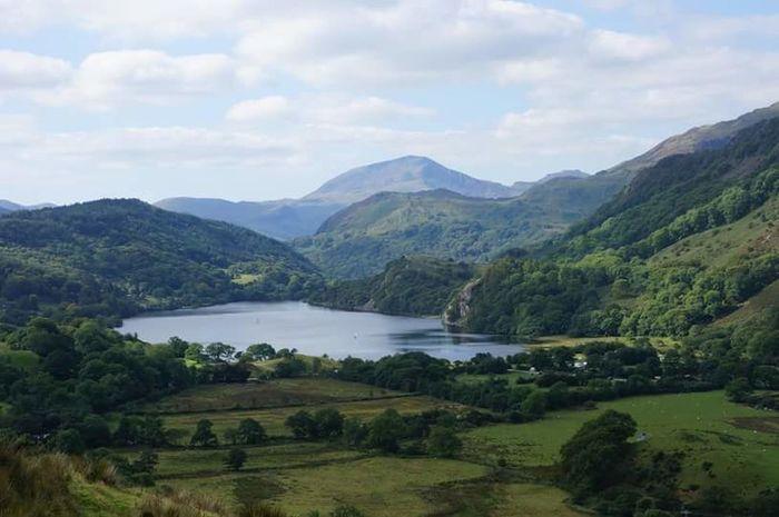 Snowdonia National Park North Wales Lake View