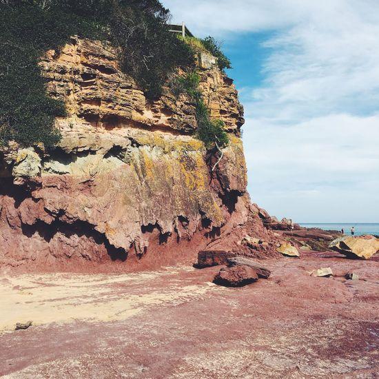 Australia Beach Blue Coast Merimbula Nature Red Roadtrip Rocks Sea Shopping Travel Vscocam Wanderlust