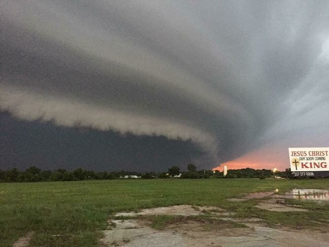 Storm from two weeks ago.