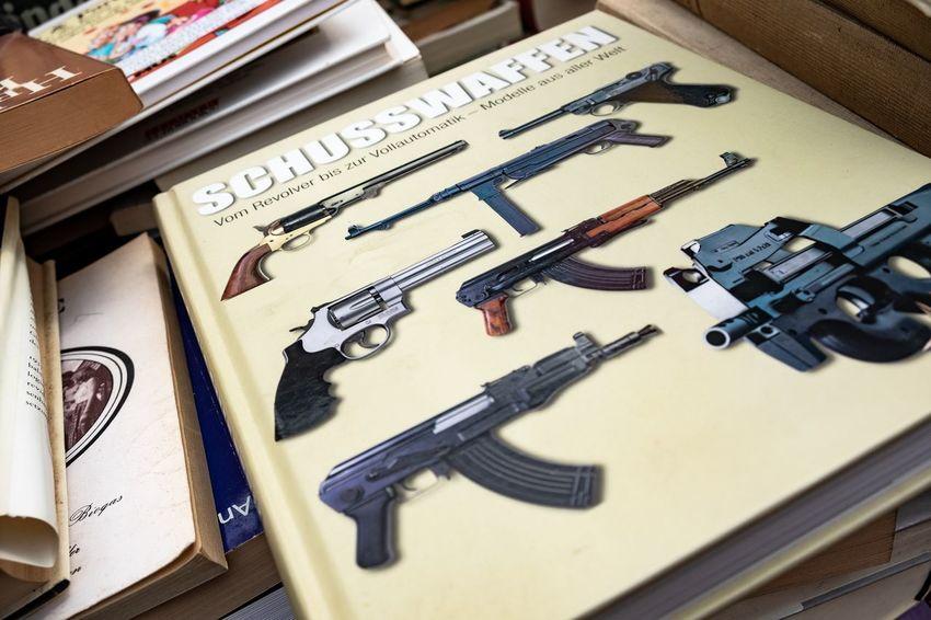 Knarren ... Books Vintage Retro The Devil's In The Detail No People Handgun Weapon Gun Pistol Close-up Printing Press