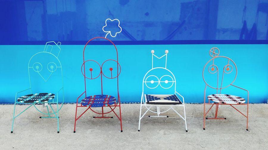 Marni chairs Marni Design Ethnic Colombia Progect Designweek  Azzurro Terquoise Consept Idea Fashion EyeEm Selects Blue Pastel Colored Shore Fashion Designer Architectural Detail Pattern