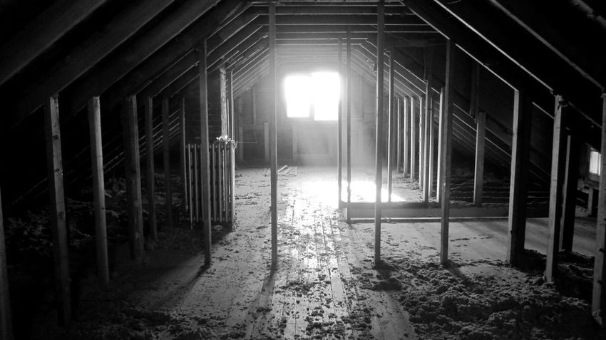 An old attic I renovated. Abandoned Architecture Attic Building Built Structure Ceiling Composition Door Empty Flooring Indoors  Light Oldhouse Oldhouselove Oldhouses Openwindow Rafters Railing Sunlight Sunshine The Way Forward Wall Window
