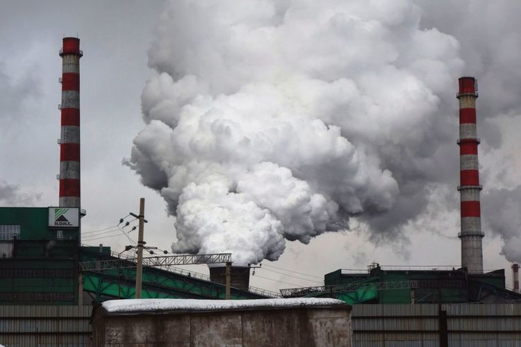 #siberia Factory Industry Smoke Stack Fumes Destruction RISK Smoke - Physical Structure Accidents And Disasters Danger Business Finance And Industry Environmental Damage Chemical Plant Cooling Tower Smog Air Pollution Pollution