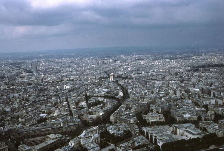 Cityscape Seen From Eiffel Tower