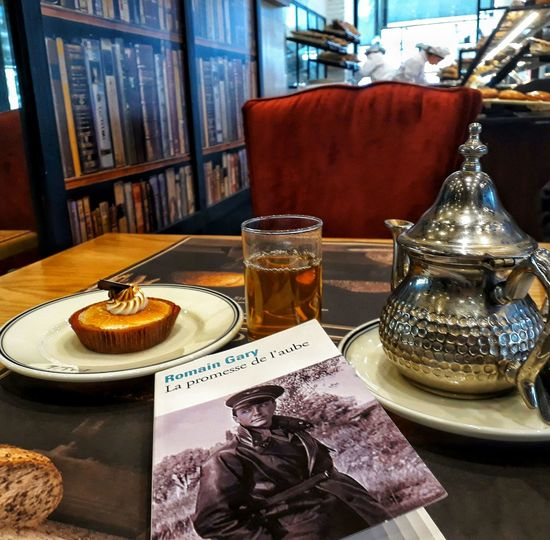 Book Literature Litterature Morocco Moroccantea Atay Tarte Paul Drink Drinking Glass Arts Culture And Entertainment Table Close-up Food And Drink Cake Knowledge