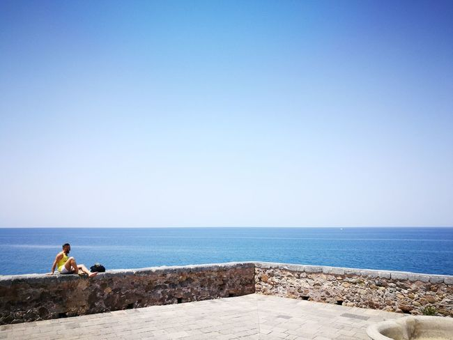I love Cefalú Horizon Over Water Sea Water One Man Only Sky One Person Clear Sky Only Men Blue Tranquility Day Outdoors Cefalu  Cefalú, Sicilia, Mare, Paesaggio Cefalubeach Cefalu, Sicilia Cefaluturismo Playa Paradiso Dia Perfecto Perfect Day Sommergefühle EyeEm Selects EyeEm TOA 2017 Breathing Space