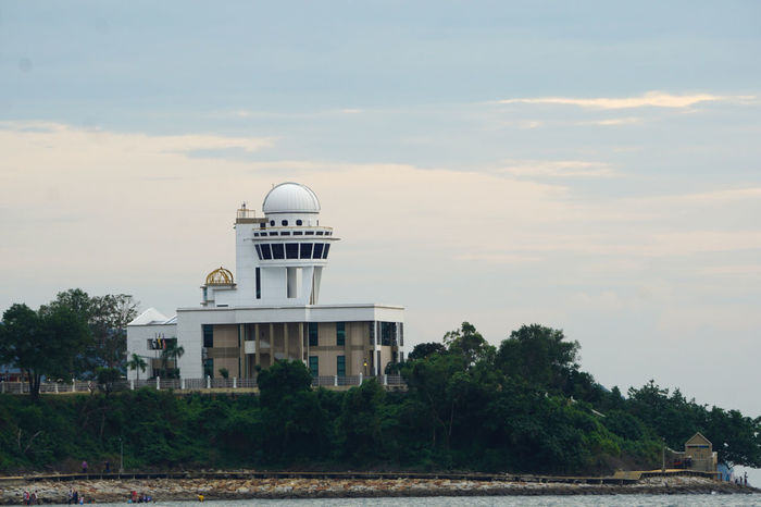 Star observation deck station at the Port Dickson beach, Malaysia Architecture Astronomy Building Exterior City Day Dome M Moon No People Observation Deck Outdoors Plate S