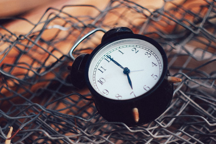 Time No People Clock Close-up Number High Angle View Focus On Foreground Accuracy Metal Nature Outdoors Technology Alarm Clock Still Life Communication Day Field Land Minute Hand
