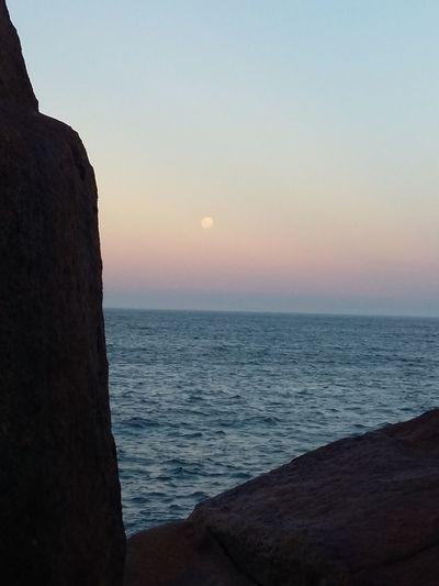 #sky #beach #NoFilter #Nature  Praia Mar Luacheia Full Moon Fullmoon Full Moon Beach Water Sea Sunset Clear Sky Beach Wave Silhouette Sand Sky Horizon Over Water