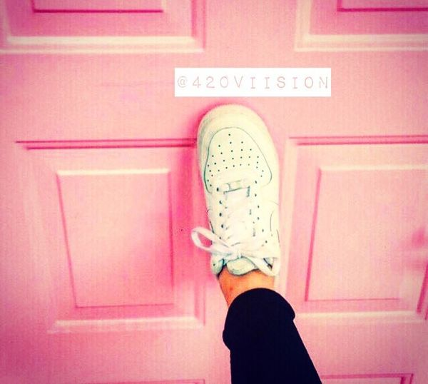 👟💗 Real People Lifestyles Millennial Pink Nike Nike✔ Trainers ❤ Airforce Door Girl Girlpower Love Summer Sunshine Love ♥ Life