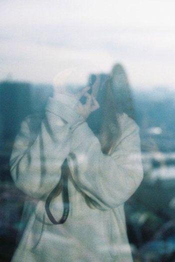35mm Film Film EyeEm Best Shots Selfportrait Blue Hotel Room