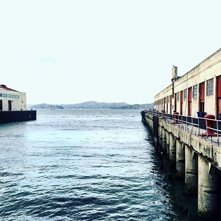 San Francisco Fort Mason California Love Blue Water Blue Sky Chilly Day Northern California Old Buildings