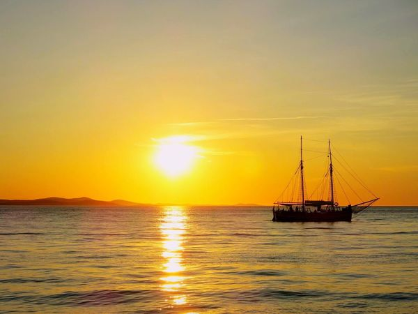 Puesta de sol en Zadar(Croatia) .Una puest de sol que no te puedes perder. Croacia Crotone Sunset_collection Sky Sea
