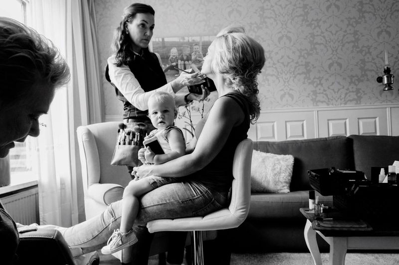 Making ready. Mother Togetherness Daughter Baby Family Women Kids Netherlands Makingready Wedding Dutch Love