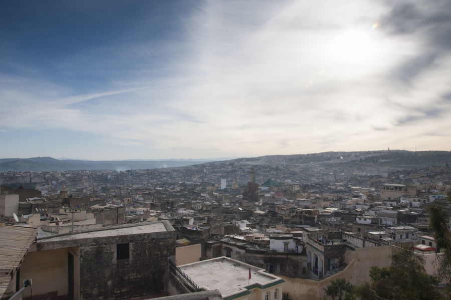 Tangier from Above Architecture Building Exterior Built Structure City Cityscape Cloud Cloud - Sky Cloudy Community Crowded High Angle View House Human Settlement Morocco Residential Building Residential District Residential Structure Sky Tangier Town TOWNSCAPE