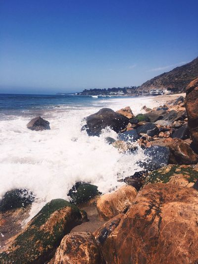 Water Nature Sea Beauty In Nature Clear Sky Motion Scenics Beach Power In Nature Wave Rock - Object Outdoors