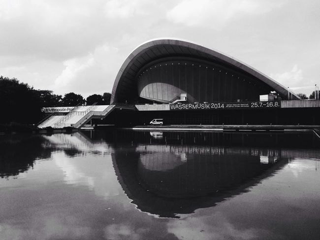 Architecture Blackandwhite Water Reflections Soistberlin  Geometric Shapes
