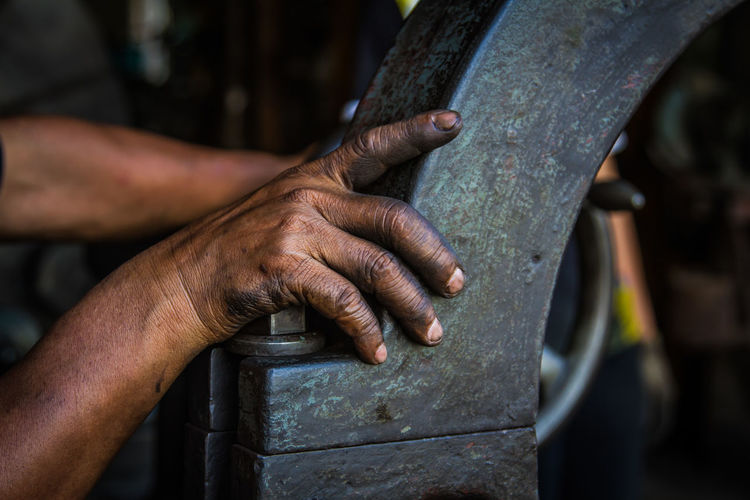 Body Part Close-up Day Finger Focus On Foreground Hand Holding Human Body Part Human Hand Indoors  Mechanic Men Metal Metal Industry Occupation One Person Real People Skill  Tool Work Tool Working
