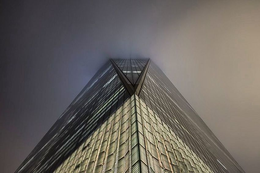 From the bottom of the cloud covered One World Trade Center. NYC Oneworldtradecenter FromTheBottom Architecture Freedomtower USA Canon Canon_camera Canonphotography TeamCanon Canon_photos Photographersgram Photographersgram_feature
