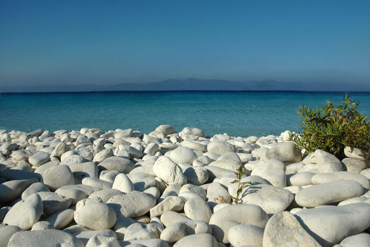 Antipaxos Beach Beauty In Nature Blue Greece Horizon Over Water Nature Rock - Object Sea Stone Stone - Object Tranquility Water White White Stone Landscapes With WhiteWall