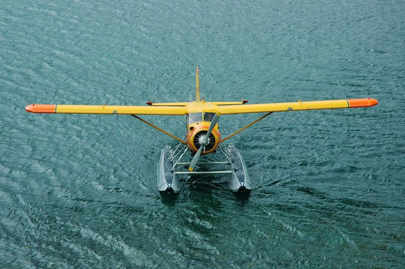 Stunning Retro Airplane Real People Leisure Activity Water Men Sea Nautical Vessel One Person Outdoors Nature Beauty In Nature Day Nature Scenics Beach, Kodiak, Alaska Alaska Go Higher