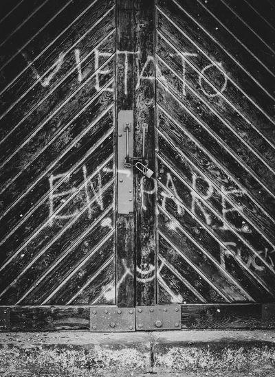 Full frame shot of closed door of building