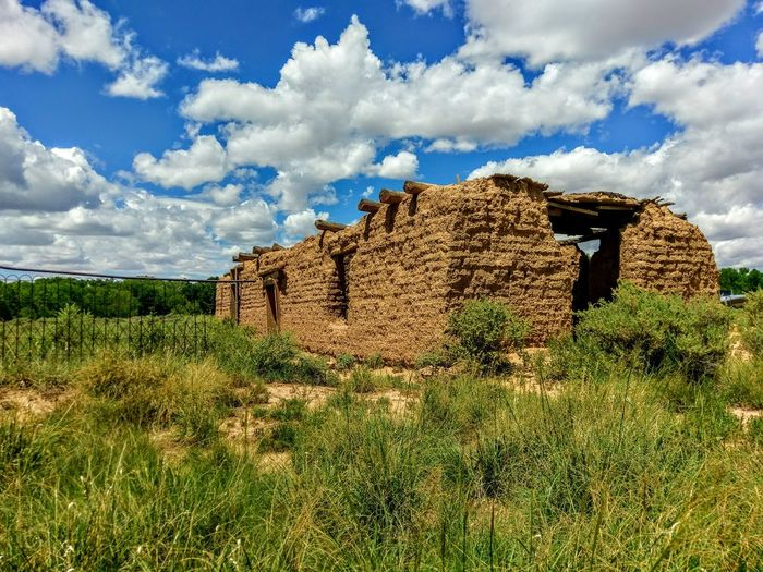 Cloud - Sky Sky Day No People Field Outdoors Landscape Ruins Of A Past Adobe Building Mud Bricks Architecture