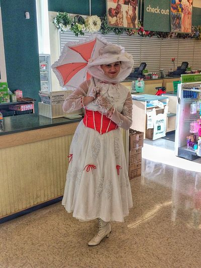 Bumped into Mary Poppins... Full Length Standing One Person Portrait Archival People Real People Indoors  Childhood Smiling One Woman Only Adults Only Only Women Day Adult Mary Poppins