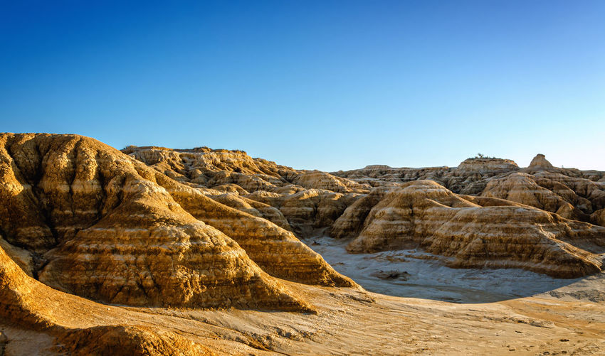 Bardenas reales is a spanish natural park of wild beauty, it is a semi-desert landscape