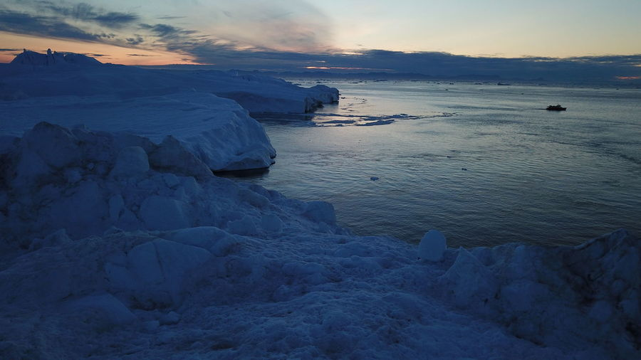 The night is falling, and the whales had gone home.... EyeEm Best Shots EyeEm Best Shots - Nature Greenland Icebergs Ilulissat Ilulissat Icefjord The Real Greenland This Is Greenland Boat Dji Iceberg Iceberg - Ice Formation Nightfall