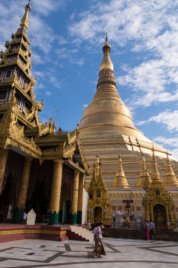 Architecture Buddhism Building Exterior Built Structure Burma Golden Myanmar Outdoors Place Of Worship Religion Shwedagon Pagoda Sky Temple Travel Travel Destinations Yangon