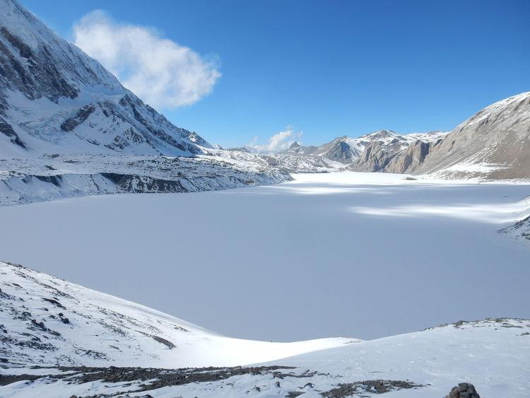 Frozen Tilicho lake Frozen Lake Water Nepal Snow EyeEm Selects 4919 Meters Altitude Lake