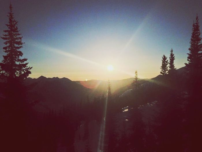 Sunset over the mountains 🌄 Nature Sunlight Lens Flare Beauty In Nature Sunset Tranquility British Columbia Canada Amaturephotography Landscape Peace