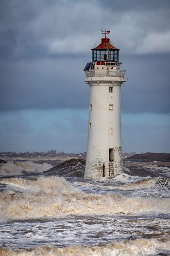 Perch rock lighthouse Steve Samosa Liverpool River Mersey Waterfront Waves New Brighton Coastal Landscape Stormy Sea Shoreline Stormy Weather Tower Lighthouse Guidance Water Architecture Protection Sky Beach Nature Sea Cloud - Sky