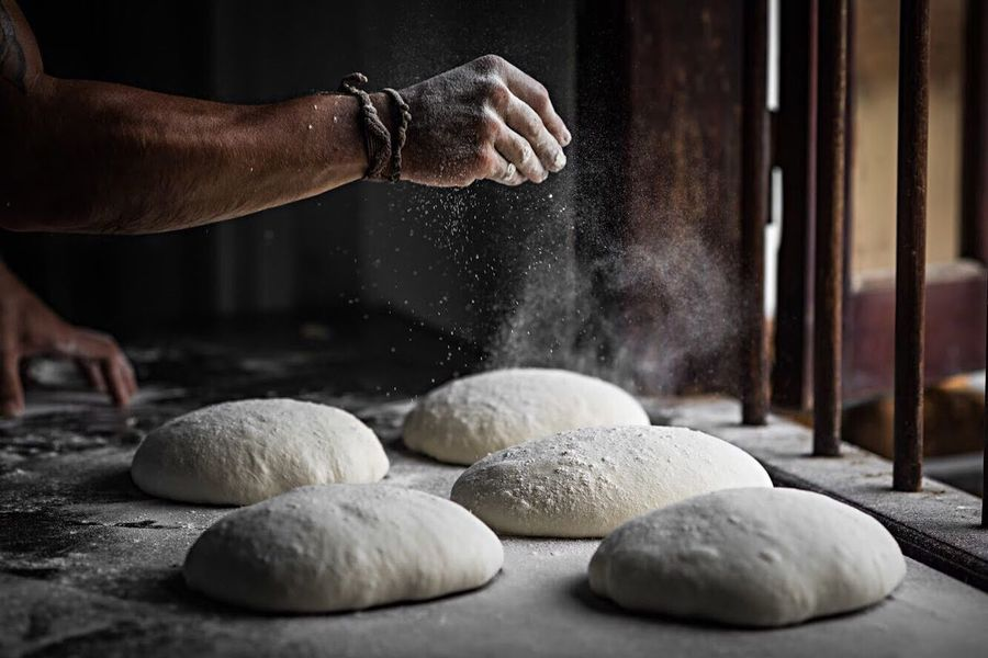 The art of bread making Human Hand Dough Preparation  Flour Baking Bread Human Body Part Baker - Occupation Making Bakery Indoors  Bread One Person Working Kneading Men Food Occupation Food And Drink Adult People EyeAmNewHere