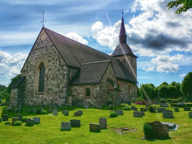 Cemetery Graveyard Nature Church Vanishing Point