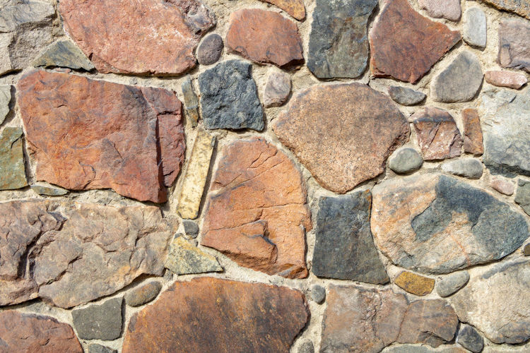 stone wall Backgrounds Textured  Full Frame Architecture Solid Built Structure Stone Material Brick No People Pattern Wall - Building Feature Wall Close-up Stone - Object Gray Construction Material Rock - Object Granite Outdoors Rock Stone Wall Cement Textured Effect