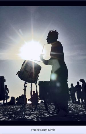 Venice Beach Drum Circle Sunset Silhouettes Sunset EyeEm Sunset EyeEm Best Shots