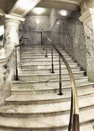 Stairways in the Idaho Capitol Monochrome