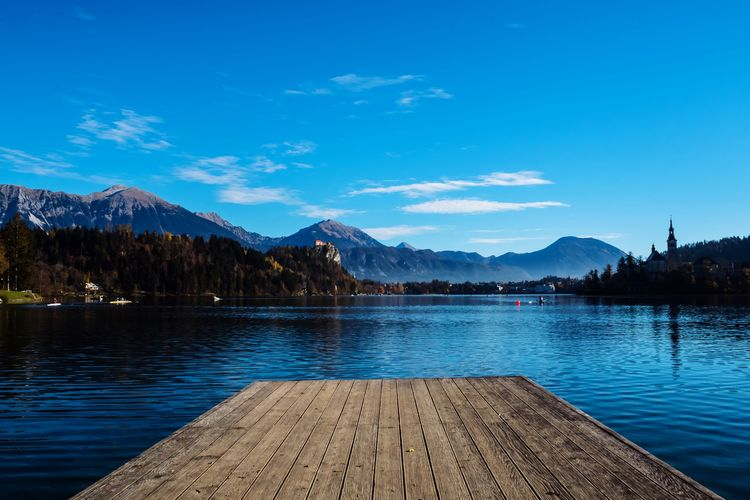 Good Morning, Bled! Early Bird Lake Water Lake Mountain Beauty In Nature Scenics - Nature Tranquility Sky Mountain Range Tranquil Scene Nature Blue Outdoors Reflection No People