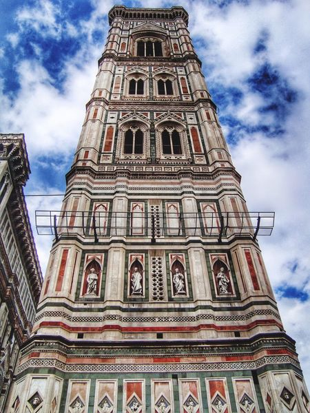 Cloud - Sky Religion Sky Architecture Low Angle View Place Of Worship Spirituality Built Structure Building Exterior History Day Travel Destinations Outdoors No People Firenze Florence Travel Photography