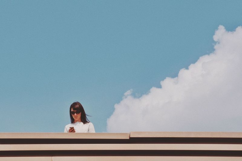 Cloud Cloud - Sky One Person Sky Young Adult Young Women Built Structure One Young Woman Only Day One Woman Only Outdoors The Street Photographer - 2018 EyeEm Awards The Art Of Street Photography
