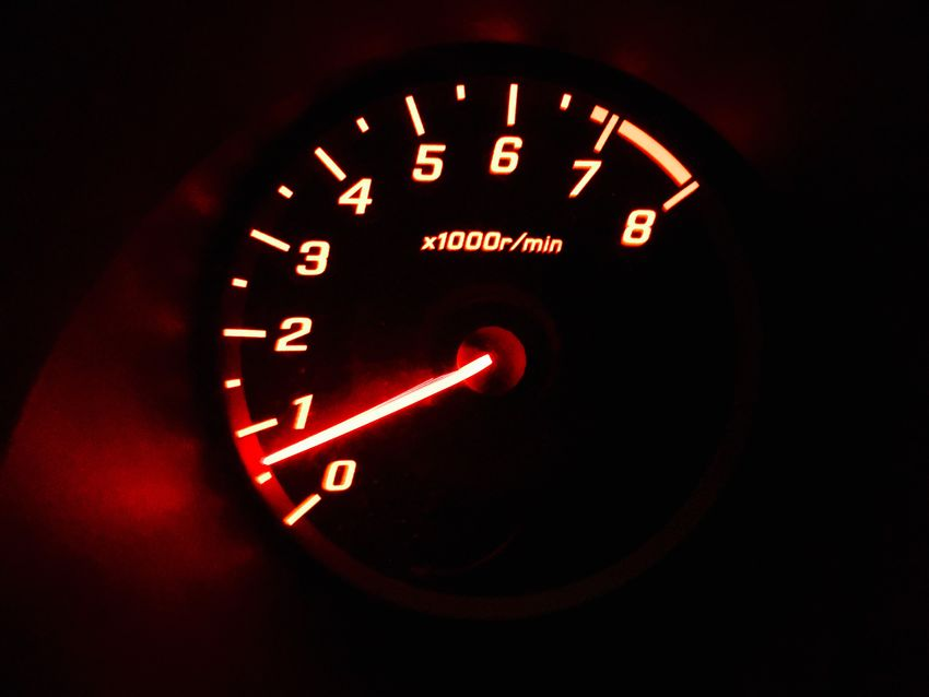 Car speedometer. Are you ready to go full speed? Speedy Vehicle Interior Speedometer Car Dashboard Transportation Car Interior Land Vehicle No People Speed Close-up Illuminated Red
