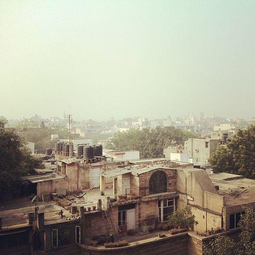 Morning fog over New Delhi