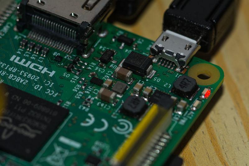 Close Up Electronics  Micro Mini Computer Mission No Peaple Raspberry Pi Small Close Up Technology