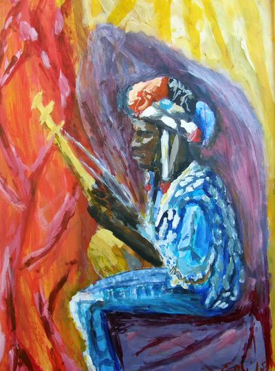 Painting Figures Multi Colored African Musicians Painting Art PaintingStyle Painting Artwork African Beauty Africanboy