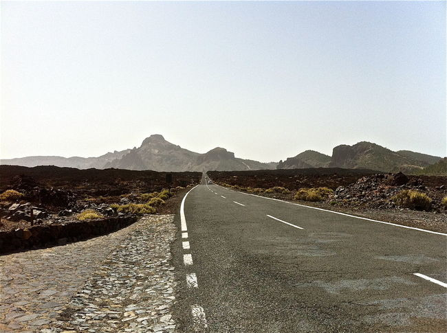 Arid Climate Canary Islands Country Road Day Diminishing Perspective Empty Landscape Leading Mountain Mountain Range Narrow Non-urban Scene Outdoors Remote Road Road Marking Teide National Park Tenerife The Way Forward Transportation Vanishing Point