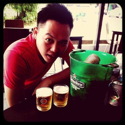 Drinks Tsingtao Beer On Assignment