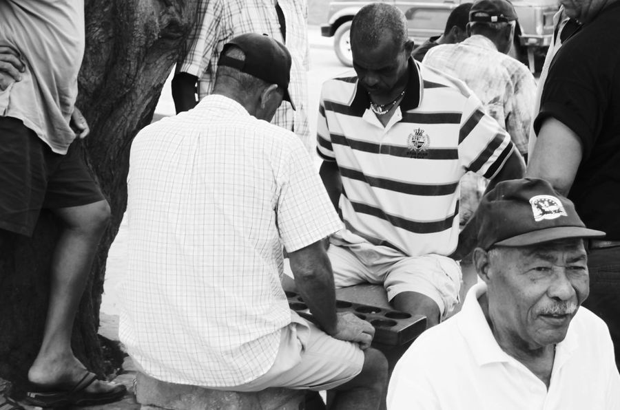 Capo Verde Day Espargos Full Frame Shot Large Group Of People Lifestyles Men Outdoors Playing Real People Sal Island Summer 2015 Village Life Village Square